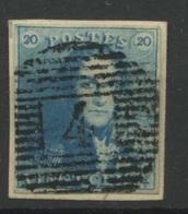 20c Epaulette  Ø   Quatre Marges - 1849 Epaulettes