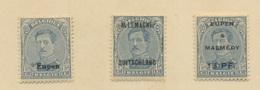 20c En Bleu Au Lieu De Violet   Charnière Propre - [OC38/54] Occ. Belg En All.