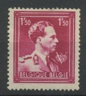 691**  Trait Vertical Sur Visage De S.M.le Roi     Sans Charnière - Abarten Und Kuriositäten