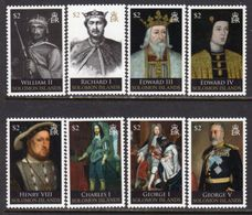 Solomon Islands 2009 Kings & Queens Of England II Set Of 8, MNH, SG 1254/61 (B) - Salomoninseln (Salomonen 1978-...)