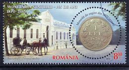 ++ RUMANIA / ROMANIA / ROUMANIE Año 2015  Usada  Moneda De Plata  1 Leu - Gebraucht