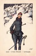 CPA Guerre 14 Kronprinz Guillaume De Prusse Caricature Tête De Mort Satirique Militaire Illustrateur ZISLIN - Patriotic