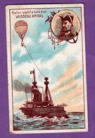 Chromo  Publicite Chicorée Belle Jardiniere Offert Par C. Beriot Lille Ballon Captif  Vaisseau Amiral - Bateaux