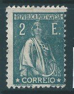 PORTUGAL : A150  -  1917  2 E.  Green Mint  -  Yvert  € 80 - 1910-... Republic
