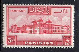 PAKISTAN : S072  -  1948  5 R.  Very Light Hinged  -  Yvert  € 18 - Pakistan