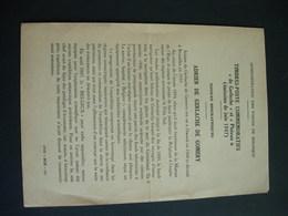 Document édité Par La Poste En 1947: Timbres Poste Commémoratifs: Adrien De Gerlache. - Belgium
