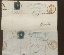 13 Devant De Lettre Avec 20c Médaillon - 1851-1857 Medaillen (6/8)