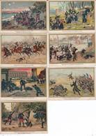 7 CHROMOS-PUB  MOKA LEROUX-( Bataille De Rezonville- Bataille De Spicheren-bataille De Froechwiller  Voir 2 Scans - Té & Café