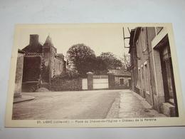 C.P.A.- Ligné(44). - Place Du Chevet De L'Eglise - Château De La Pérétrie-  1910 - SUP (T70) - Ligné