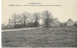 MORAINS - Entrée Du Village (Guerre De 1914) - Altri Comuni