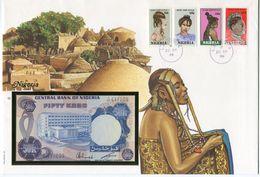 NIGERIA ENVELOPPE AVEC LES N°513/516 (STYLES DE COIFFURES FEMININES)  + BILLET NEUF - Nigeria (1961-...)