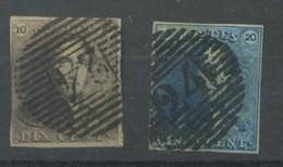 1 Et 2  Ø   épaulette   Timbres Corrects   Cote 150,-E - 1849 Epaulettes