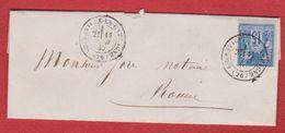 Lettre  / De Amfreville La Campagne / Pour Rouen  / 11 Juin 1880 - Marcophilie (Lettres)