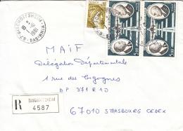 Env Reco  Affr Y&T 1971 + PA 46 X 2 Obl BISCHOFFSHEIM Du 1.10.1981 Adressée à Strasbourg - Marcofilia (sobres)