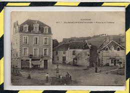 EGLISENEUVE-D'ENTRAIGUES . - . PLACE DE LA FONTAINE. CIRCULEE EN 1914 - Autres Communes