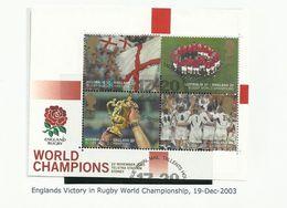 GRANDE BRETAGNE BF N° 22 OBLITERE NEUF ANGLETERRE 2003 BLOC - Sport Rugby - Hojas Bloque
