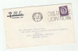 1962 Wolverhampton GB COVER SLOGAN Pmk CIVIL DEFENCE JOIN NOW Stamps - Briefe U. Dokumente