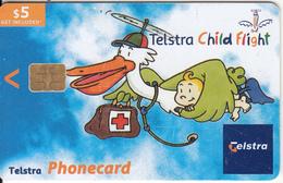 AUSTRALIA(chip) - Telstra Child Flight, Exp.date 31/12/05, Used - Australia