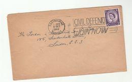 1962 Eastbourne GB COVER SLOGAN Pmk CIVIL DEFENCE JOIN NOW Stamps - Briefe U. Dokumente