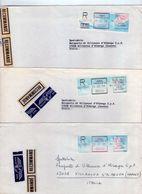 Pricipaute De Monaco. Trois Recommandè Rouge Et Noir. - Machine Stamps (ATM)