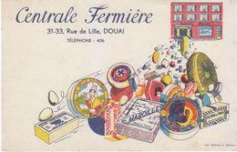 Buvard CENTRALE FERMIERE Douai, Fromage, Maroilles, Camembert, Beurre - Buvards, Protège-cahiers Illustrés