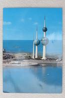 "(10/1/76) AK ""Kuwait"" An Aerial View Of Kuwait Towers - Kuwait"