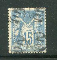 Y&T N°90- Oblitération OR En Noire - 1876-1898 Sage (Type II)