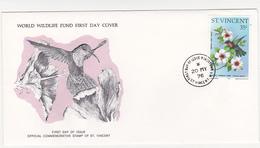 1976 / Lot De 2 Enveloppes 1er Jour Du Fonds Mondial Pour La Nature / FDC / SAINT-VINCENT / Caraïbes - St.Vincent & Grenadines