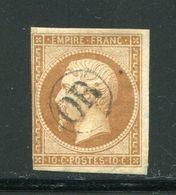 Y&T N°13A- Oblitération OR En Noire - 1853-1860 Napoléon III