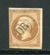 Y&T N°13A- Oblitération OR En Noire - 1853-1860 Napoleon III