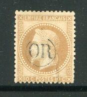 Y&T N°28A- Oblitération OR En Noire - 1863-1870 Napoleone III Con Gli Allori