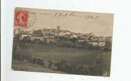 VERFEIL (HAUTE GARONNE) VUE GENERALE PANORAMIQUE AVEC EGLISE 1906 - Verfeil