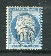 Y&T N°60A- Oblitération OR En Noire - 1871-1875 Cérès