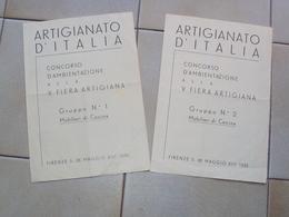 2 DÉPLIANT DELLA MANIFESTAZIONE ARTIGIANATO D'ITALIA V FIERA ARTIGIANA MOBILIERI CASCINA FIRENZE 1935 - Vecchi Documenti