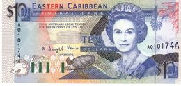 East Caribbean States P.27a 10 Dollars 1993 Unc - Caraibi Orientale