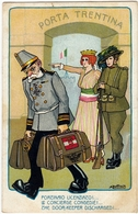 MILITARI - A. BERTIGLIA - PORTINAIO LICENZIATO!... - 1915 - Vedi Retro - Formato Piccolo - Patriottiche