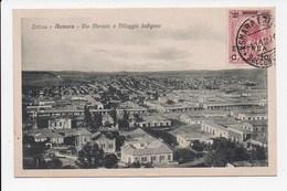 CPA ERITREA ASMARA Via Mercato E Villagio Indigeno - Erythrée