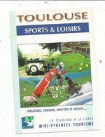 Publicité, Toulouse , Sports & Loisirs , 2 Scans , 31 , Haute Garonne - Advertising