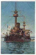 """Nr. 7648,  """"Marine-Galerie"""", Französisches Panzerschiff """"La Hoche"""" 1900 - Warships"""