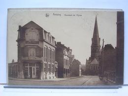 BELGIQUE - ANTOING - BOULEVARD DE L'EGLISE - CAFE DU BOULEVARD - BIERES WIELEMANS - 1932 - Antoing