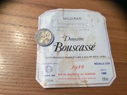 étiquette De Vin «MADIRAN - Domaine Bouscassé - ALAIN BRUMONT - MAUMUSSON (32)» 1986 - Madiran