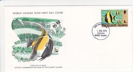 1976 / Lot De 2 Enveloppes 1er Jour Du Fonds Mondial Pour La Nature / FDC / ILES GILBERT (KIRIBATI) - Kiribati (1979-...)