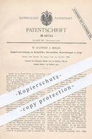 Original Patent - W. Schweer , Berlin , 1889 , Regulierung Am Dampfofen , Ofen , Heizplatte , Heizung   Heizkörper !!! - Historical Documents