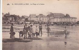 Cp , 62 , BOULOGNE-sur-MER , La Plage Et Le Casino - Boulogne Sur Mer