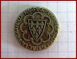 Jeton Saint Louis Ecu D'Or 1266 Collection BP Trésor Rois De France Monnaie Factice Etat TTB Publicité - Royaux / De Noblesse