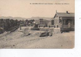 Cpa Colomb Béchar Pavillons Des Officiers - Bechar (Colomb Béchar)