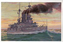 """Nr. 9557,  """"Marine-Galerie"""", Linienschiff """"Deutschland"""" 1904 - Warships"""