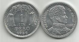 Chile 1 Peso 1956. KM#179a High Grade From Bank Bag - Chile