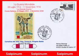 ANNULLO ANNIVERSARIO 100° GRANDE GUERRA - BRIGATA GAETA - 6. 1946-.. República