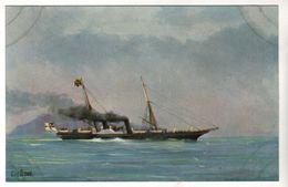 """Nr. 9966,  """"Marine-Galerie"""", Kaiser-Jacht """"Hohenzollern"""" 1892 - Warships"""